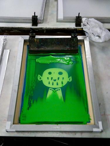 screenprinting class week 3: printing