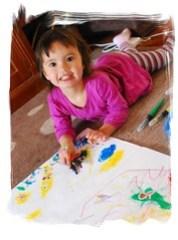 Weekend Pics - My Li'l Artist Girl