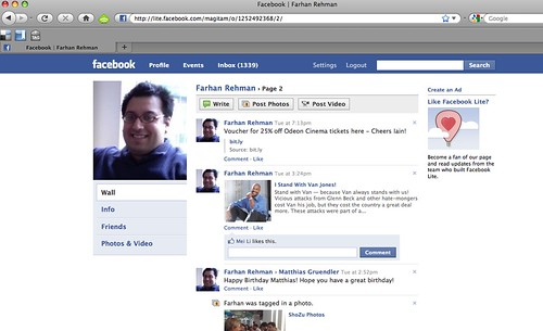 "The ""See More"" Profile View of Facebook Lite"