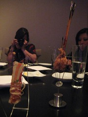 Bacon and Sweet Potato courses - Dinner at Grant Achatz's Alinea in Chicago