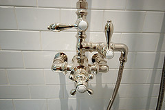 BK Limestone master shower