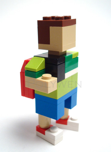 LEGO Miniland boy with backpack