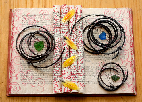 Altered Book: Close Your Eyes and Think About a Place You Want to Go