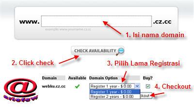 Cara Daftar di Domain Gratis, Free Domain, Free DNS CZ.CC