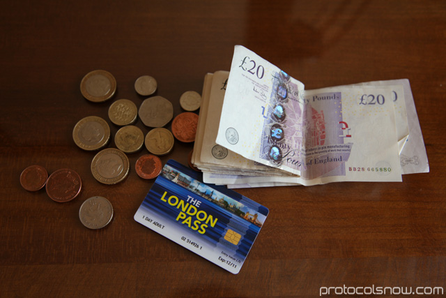 England pounds and London Pass