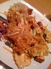 Pad Thai with calimari at the Thai Elephant in Phoenix is great Thai food, I just didn't care for the texture of the calimari