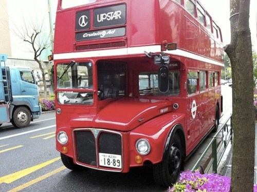 London bus in Shibuya