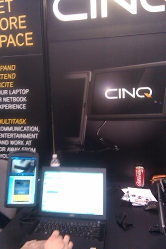 Cinq laptop monitor