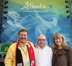 Brad Smoliak Cooks with Jack Hayden and Cinday Ady Alberta pavilion