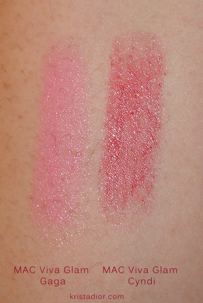 MAC Viva Glam Swatches