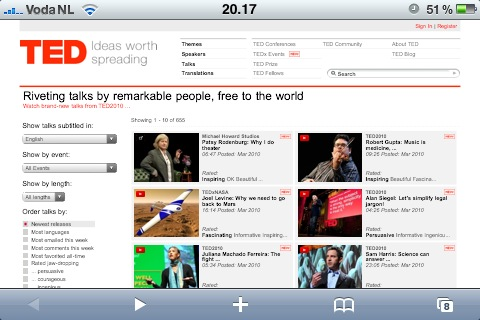 TED Talks on my iPhone