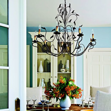 chandelier contrast Traditional Home