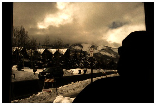 The view from the ground at #sundance. @rejects in the foreground