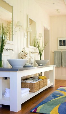chunky open vanity Traditional Home