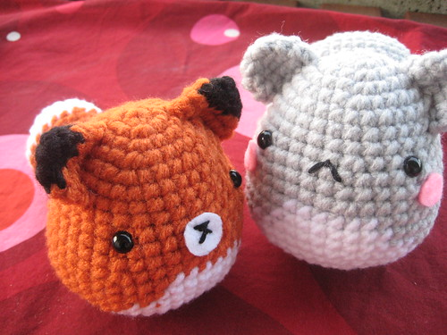 Fox Amigurumi Ravelry : Amigurumi Critter Pattern - Fox, Squirrel, Penguin, Chick ...