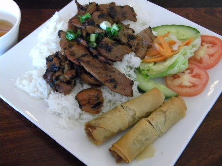 Hung Cuong: Wok Fried Pork Chop w/ Egg Roles
