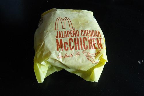 McDonald's Jalapeño Cheddar McChicken Wrapper
