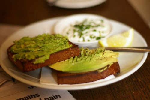 Avocado on Rye at Wall Cafe