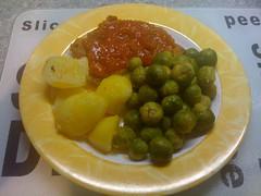 Zigeunerschnitzel, spruitjes en aardappelen... #watetenwevandaag
