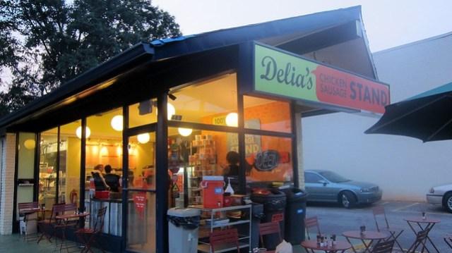 delia's chicken sausage stand