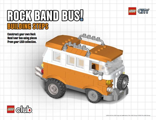 LEGO Rock Band bus instructions