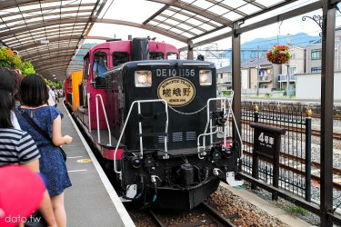 [夏.京都3-4]嵯峨野觀光鐵道(嵐山小火車)