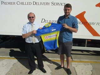 Matt 1 with our main sponsers, Wrights Dairies!