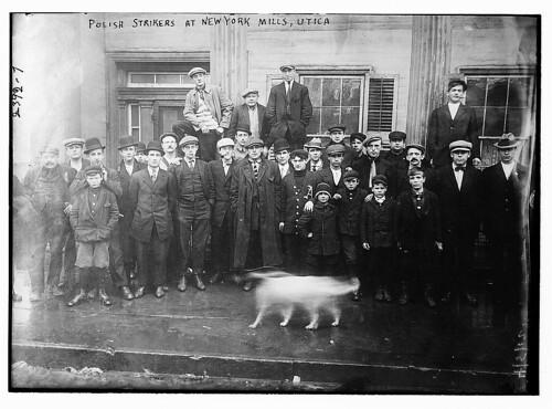 Polish strikers at N.Y. Mills, Utica (LOC)