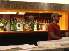 Ben working on finishing his bar at Maenam