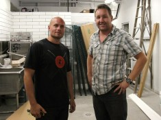Co-owner Nico Schuermans and Dirty Apron chef instructor David Robertson