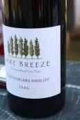 Lake Breeze bottle detail