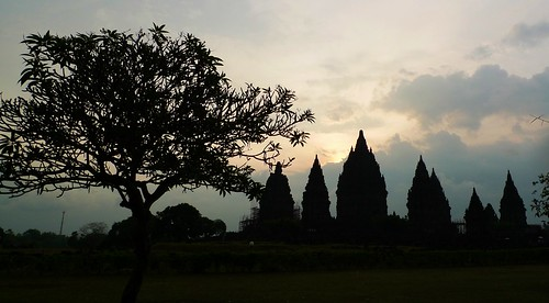 Prambanan on a rainy afternoon