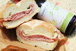 Sandwich and drink at Cardero Bottega