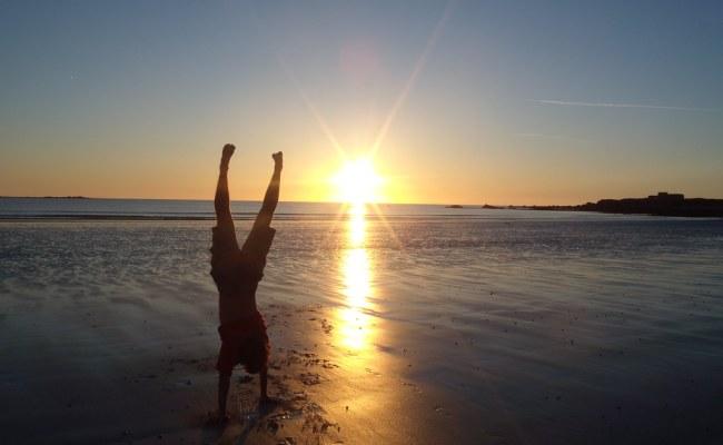 Celebratory Handstand - Vazon, Guernsey