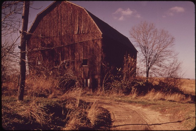 This Barn Was Abandoned When the Family Sold Out to the Hanna Coal Company in 1972. the Sale Left Only One Farm in the Area Off Route 800. 10/1973