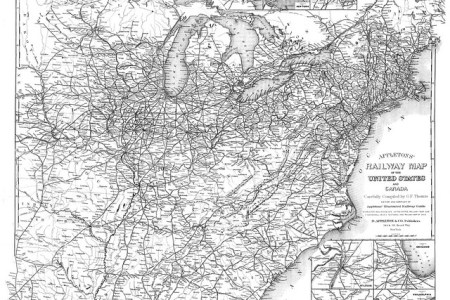 appleton's railway map of the united states and caa