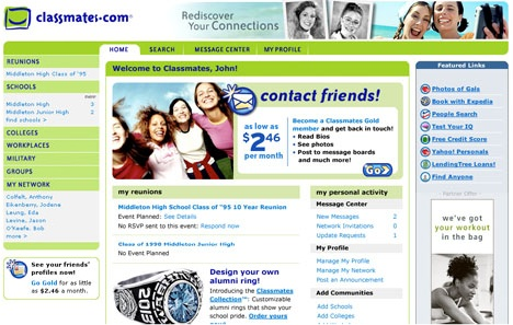 Classmates Homepage