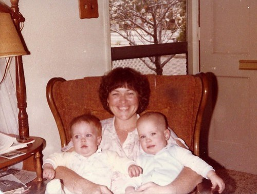 Heather & Kyle on mom's lap