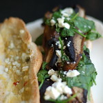 Portobello Spinach Sandwich with Garlic Goat Cheese