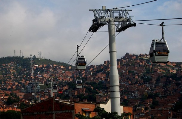 Medellin, Comuna 13, Metro Cable 2009