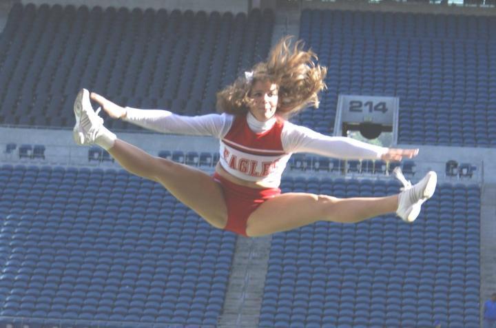Spread-Eagle High School Cheerleader