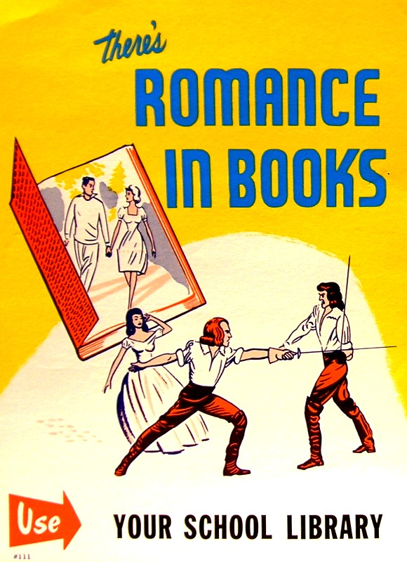 RETRO POSTER - There's Romance in Books