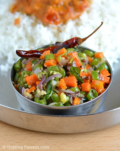 Thoran with Carrot and Beans