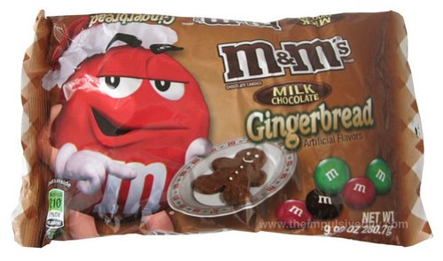 Milk Chocolate Gingerbread M&M's