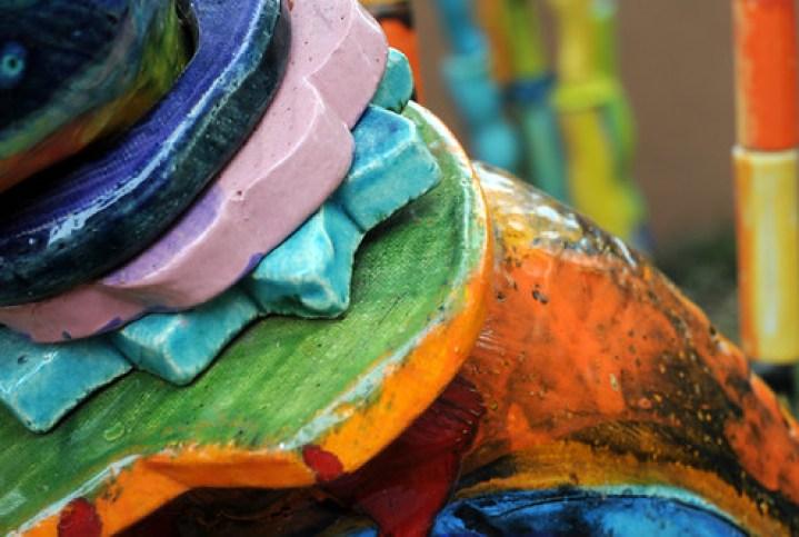 Sculpture Art Colorful Canyon Road Gallery Santa Fe New Mexico DSC_1889 by Dallas Photographer David Kozlowski