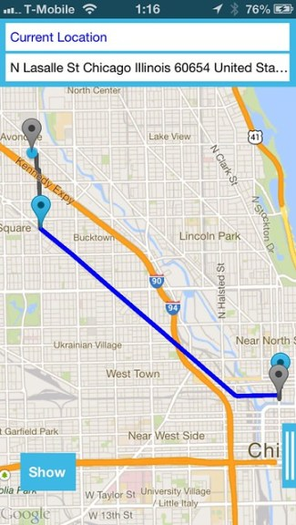 Chicago Bike Route for iOS