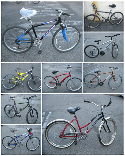 Recovered bikes from bike thief Mountain View CA
