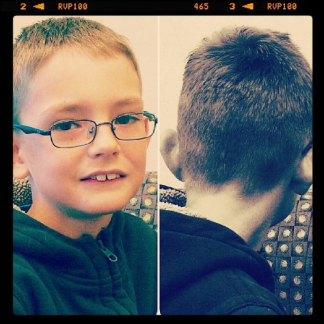 Ethan got one, too #haircut #shorthair #toocute