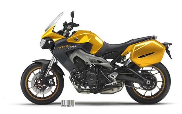 Yamaha MT-DM 850 amarilla