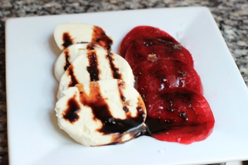 roasted beets and housemade mozarella